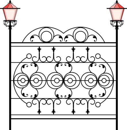 Wrought Iron Gate icon  イラスト・ベクター素材