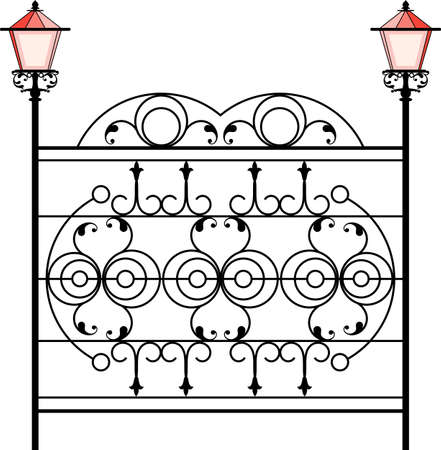 Wrought Iron Gate icon Illustration