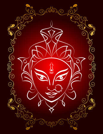 Durga Goddess of Power Vector Illustration Ilustração
