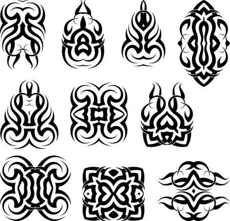 Tribal Tattoo Design in black and white Illustration.