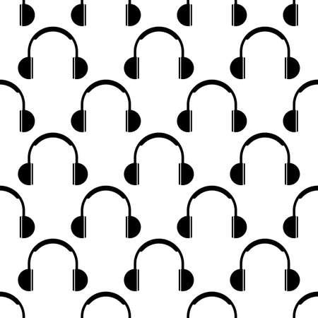 Headphone Icon Seamless Pattern Vector Art Illustration Illusztráció