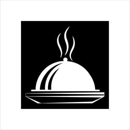 Cloche-Symbol, Essen Cloche-Symbol-Vektor-Kunst-Illustration Vektorgrafik