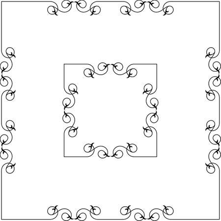 Frame Border Decorative Design Vector Art Illustration