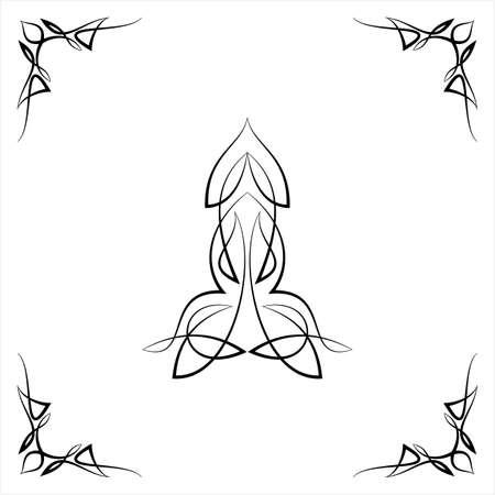 Pezzo centrale gessato con design ad angolo, illustrazione di arte vettoriale pezzo centrale