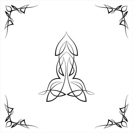 Pièce centrale à fines rayures avec conception d'angle, pièce centrale Illustration vectorielle