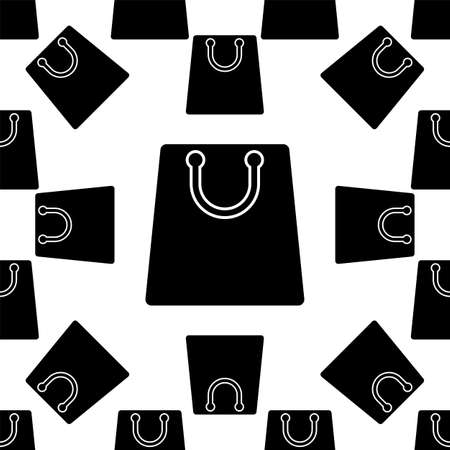 Shopping Bag Icon Seamless Pattern Vector Art Illustration