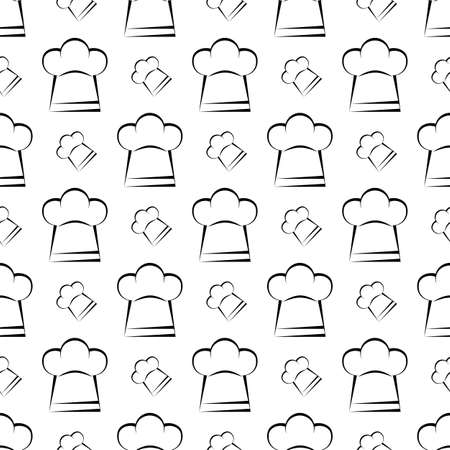 403d4fdcac7 Chef Hat Icon Seamless Pattern
