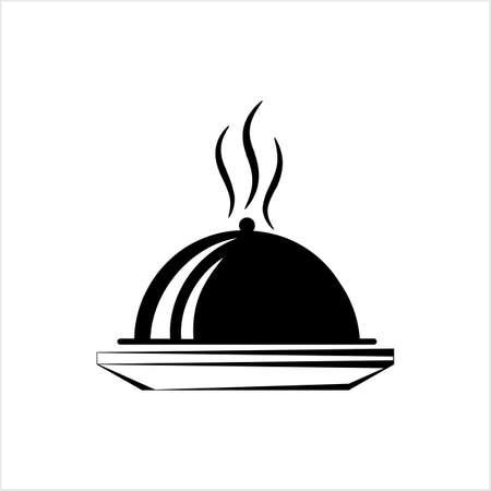 Cloche Icon, Food Cloche Icon Vector Art Illustration