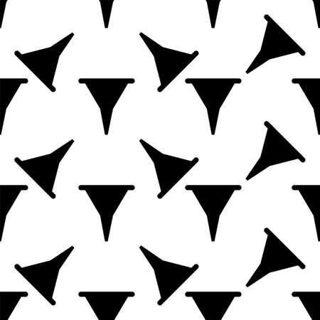 Funnel, Filter Icon Seamless Pattern Vector Art Illustration