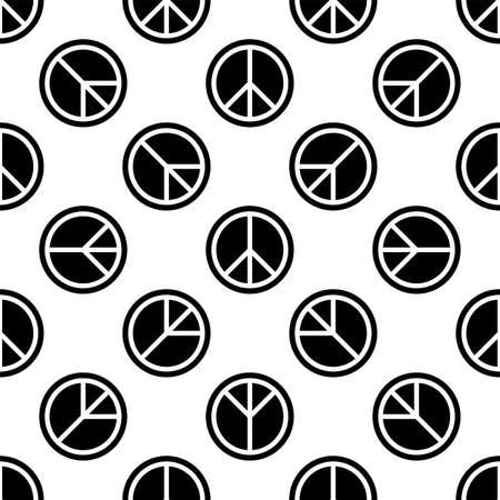 Peace Icon Seamless Pattern Vector Art Illustration 向量圖像