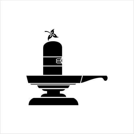 Shivling Icon, The Holy Statue Vector Art Illustration