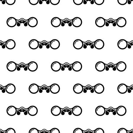 Binocular Icon Seamless Pattern Vector Art Illustration Illustration