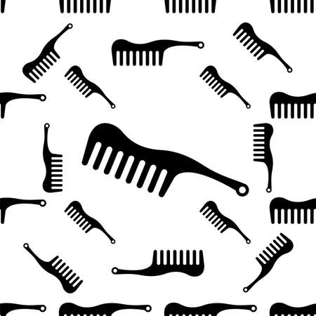 Comb Icon Seamless Pattern Vector Art Illustration 向量圖像