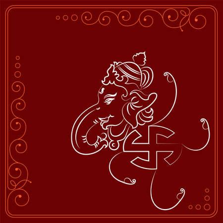 Ganesha The Lord of Wisdom Design Vector kunst illustratie Stockfoto - 105955648