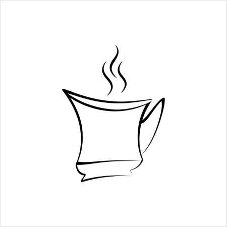 Coffee Cup Icon, Tea Cup Icon Vector Art Illustration Ilustracje wektorowe
