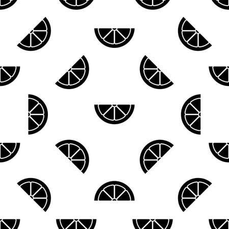Lemon Fruit Slice Seamless Pattern Vector Art Illustration 向量圖像