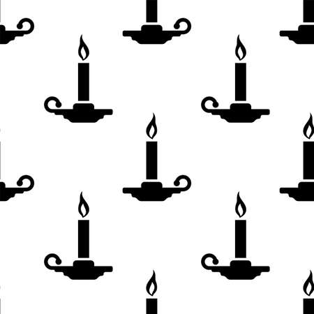 Candle Holder Seamless Pattern Vector Art Illustration