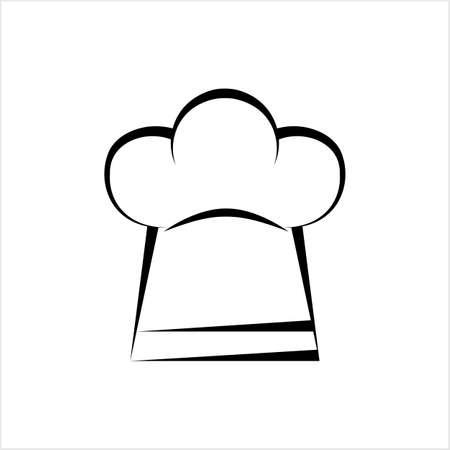 Icône de chapeau de chef, illustration de vecteur de chapeau de chef