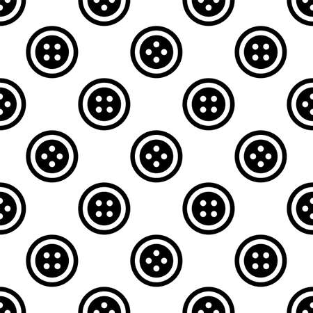 Clothing Button Icon Seamless Pattern Vector Art Illustration