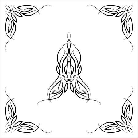 Nadelstreifen-Mittelstück mit Eckentwurf, Mittelstück-Vektorgrafikenillustration Vektorgrafik