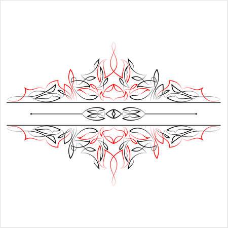 Pinstripe Text Divider Vector Art Illustration