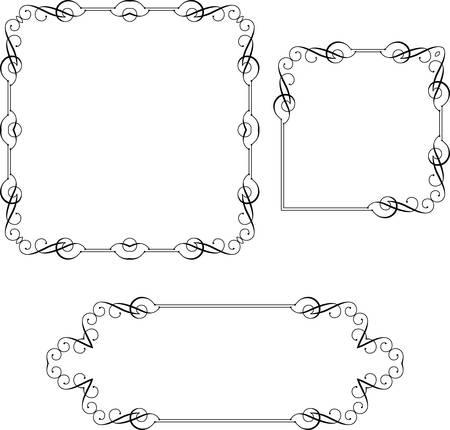 Frame Border Decorative Design Vector Art Illustration