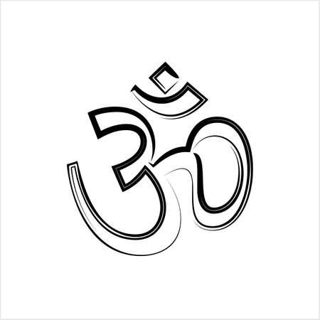 Aum (Om) The Holy Motif Design Vector Art Illustration