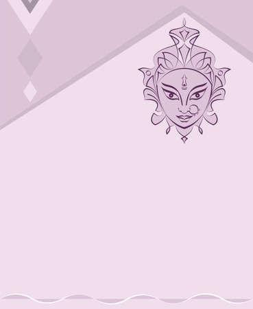 Durga Goddess Of Power, Divine Mother Of The Universe Design Vector Art Illustration Illustration