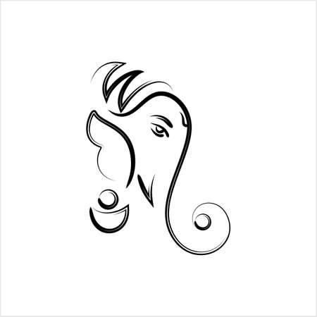 Ganesha The Lord Of Wisdom Design Vector Art Illustration
