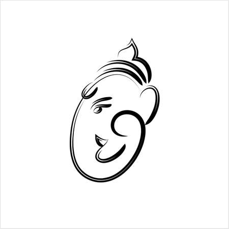 Ganesha The Lord Of Wisdom Design Vector Art Illustration Vettoriali