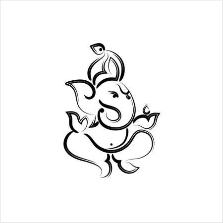 Ganesha le seigneur de la sagesse Design Vector Art Illustration