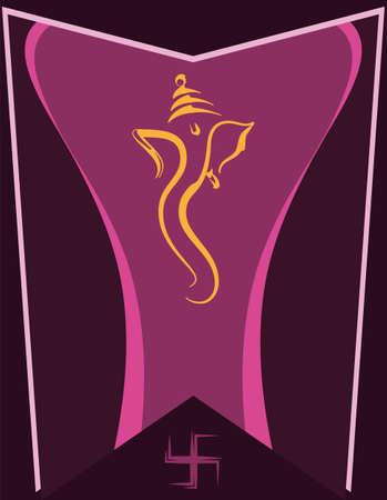 Ganesha The Lord Of Wisdom Design Vector Art Illustration Ilustração