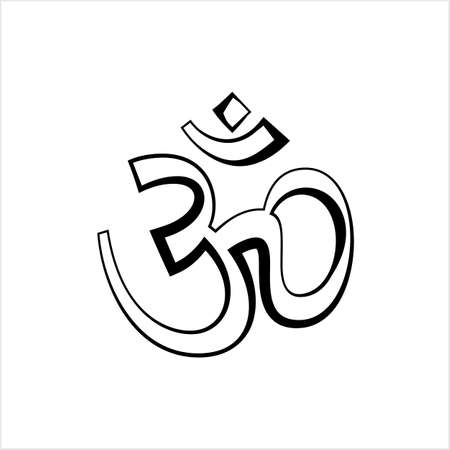 Aum (Om) The Holy Motif Design Vector Art Illustration