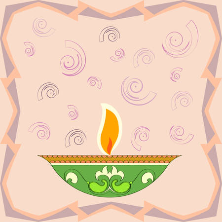 Diwali Greeting, Festival Of Light Vector Art Illustration Illustration