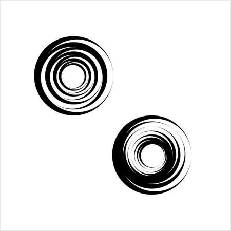 Geometric Shape Circle, Pinwheel Line Art Drawing Design Vector Art Illustration