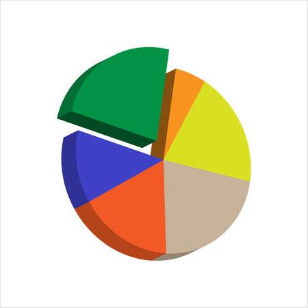 Pie Chart Icon Design Set Vector Art Illustration