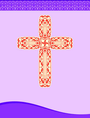 Christian Cross Design Vector Art Archivio Fotografico - 127679530