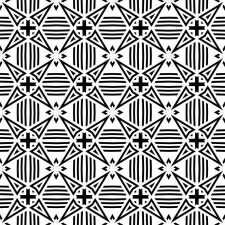 Geometric Seamless Pattern Vector Illustration Vettoriali