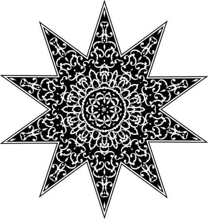 Tattoo Star Symbol Vector Illustration Vecteurs