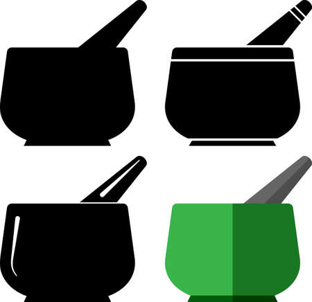 Mortar and Pestle Vector Illustration