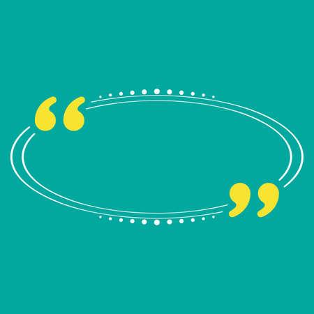 Quotation Mark Speech Bubble Vector Illustration