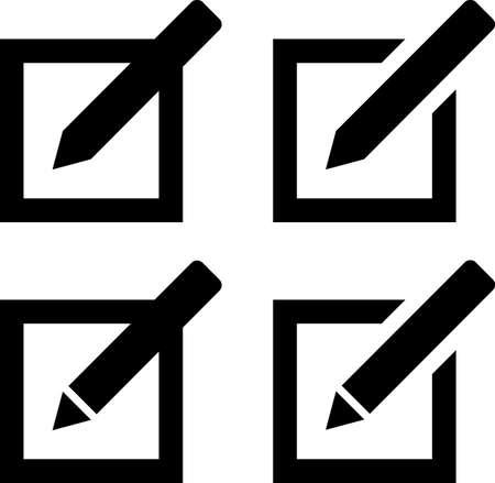 Compose Mail Icon Vector Illustration Çizim