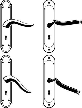 Door Handle Vector Illustration