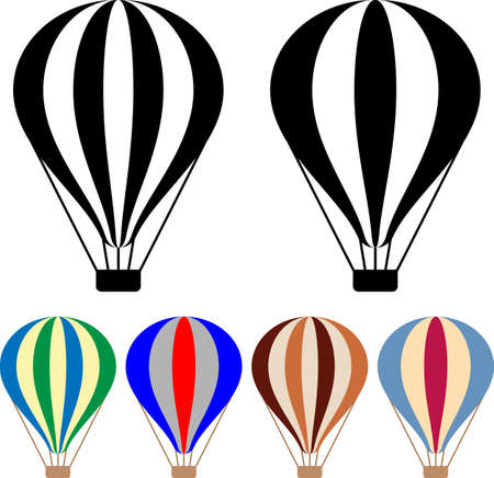 Hot Air Balloon Icon Vector Illustration