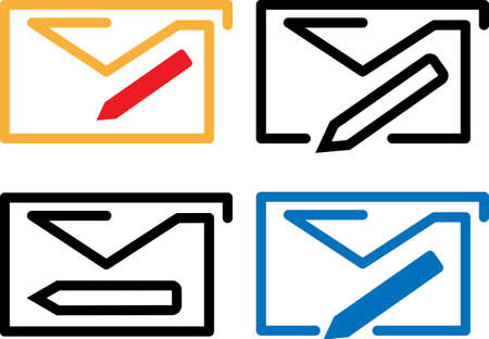 Compose Mail Icon Vector Illustration Vettoriali