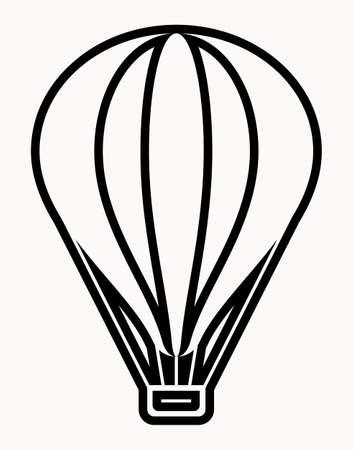 Hot Air Balloon Icon Vector Illustration