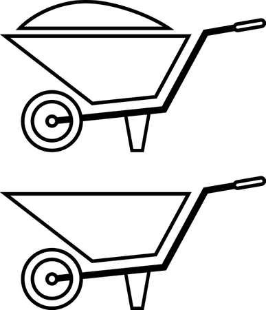 Wheelbarrow Cart Vector Illustration