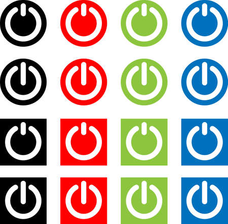 Power On / Off Switch Icon, Sign / Symbol Vector Illustration