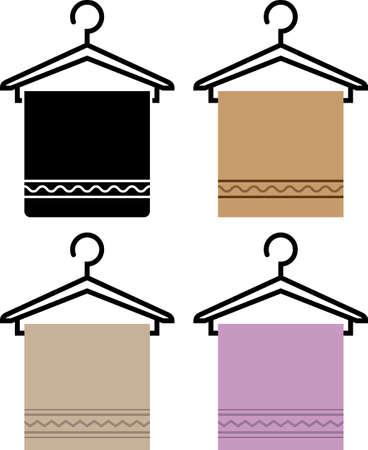 Towel On Hanger Icon Vector Illustration Illustration