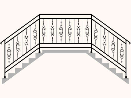 Bridge Railing Vector Illustration